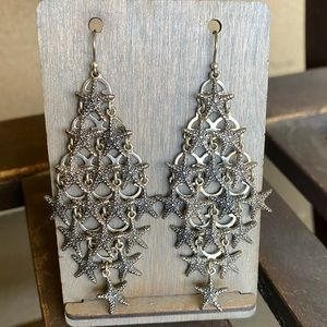 Lucky Brand Starfish Chandelier Earrings